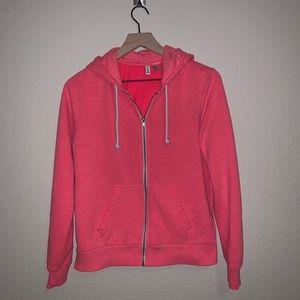 H&M Divided Neon Pink Zip Up Hoodie